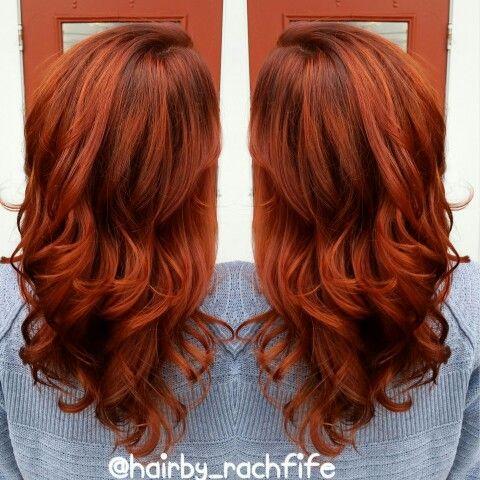 Fierce Red Copper Color Melt Created With Pravana Vivids
