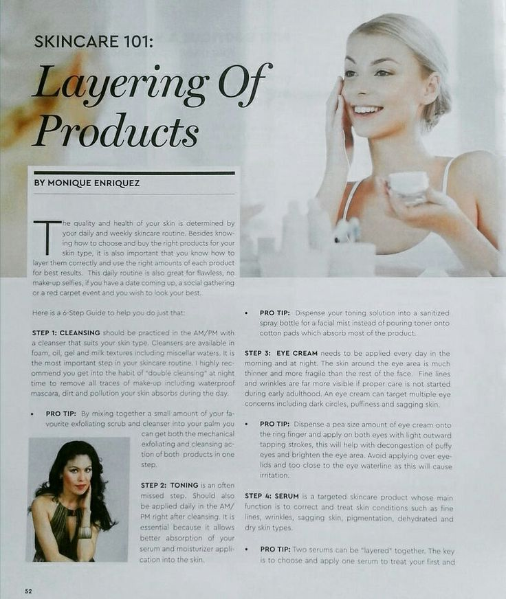 PART1 ~ Layering of skincare products editorial featured on Waterfront Magazine.  #skincare #skincareproducts #beautyexpert #skintips #beautytips #skincareroutine