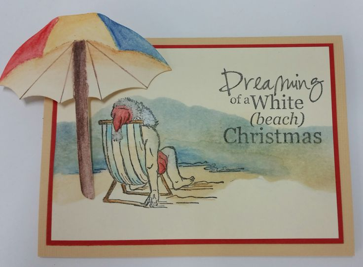 Stamp-It Australia: Weary Santa 1149E and wording from siset102. Card by Susan of Art Attic Studio