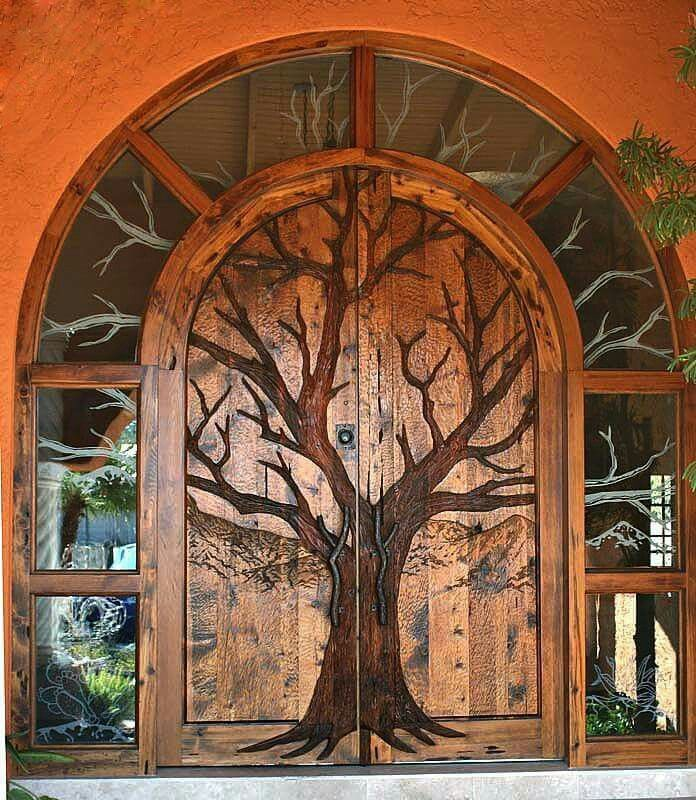 25 best ideas about hobbit door on pinterest gnome door for Big entrance door
