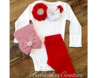 Newborn Girl Christmas Outfit, Baby's 1st Xmas Outfit, Going Home Outfit, New Baby Girl, Hospital Take Home Outfit, Newborn Winter Outfit