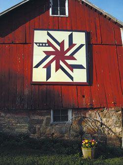 The patriotic quilt block