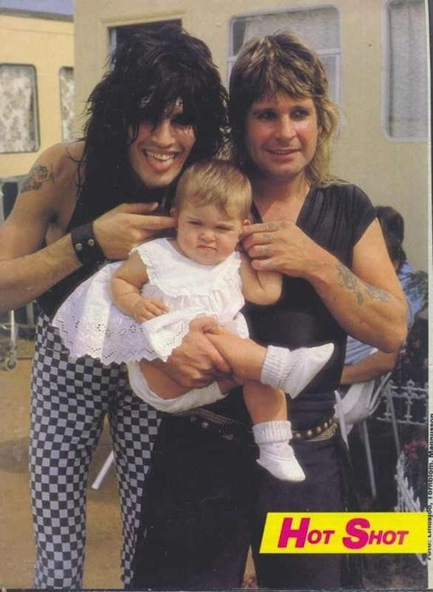 Tommy Lee and Ozzy Osbourne (and I'm assuming is Ozzy's daughter, Amy)