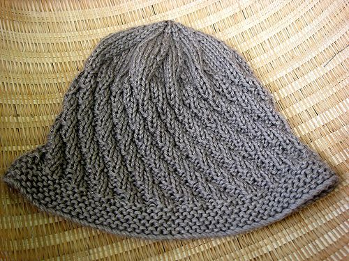 Crochet Hat Pattern Spiral Rib : Spiral Rib Cap: This is a close-fitting cap, knit from the ...