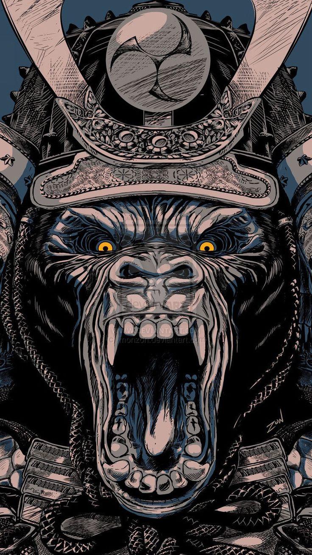 Wallpaper for ( iPhone 6 ) Samurai art, Art wallpaper