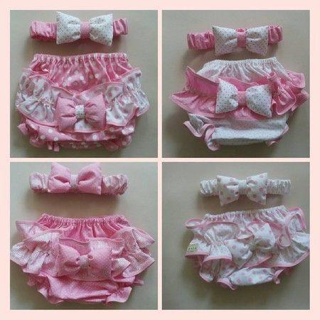 Calcinha algodão rosa -