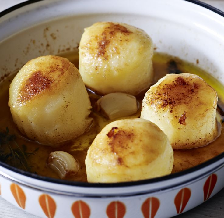 These fondant potatoes are slow-cooked whole in butter until they go meltingly soft. A luxurious alternative to roasties.