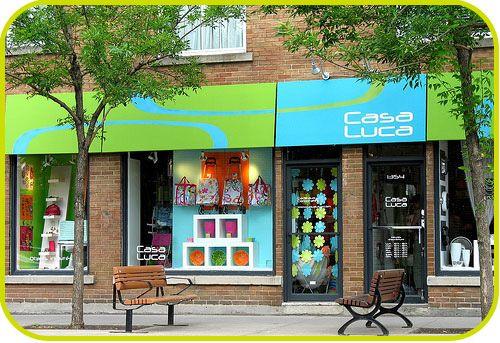 Notre boutique, au 1354 rue Fleury est à Montréal.