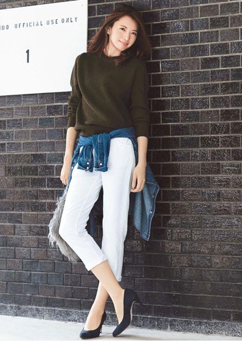 これでお出かけしたい!カーキニット♡フェミカジ系タイプのコーデ♡参考にしたいスタイル・ファッション