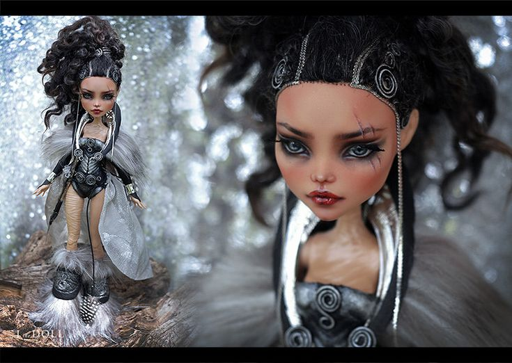 Monster High Repaint Art Doll OOAK – Cleo De Nile   Warrior Adamanthea   Created for Mary