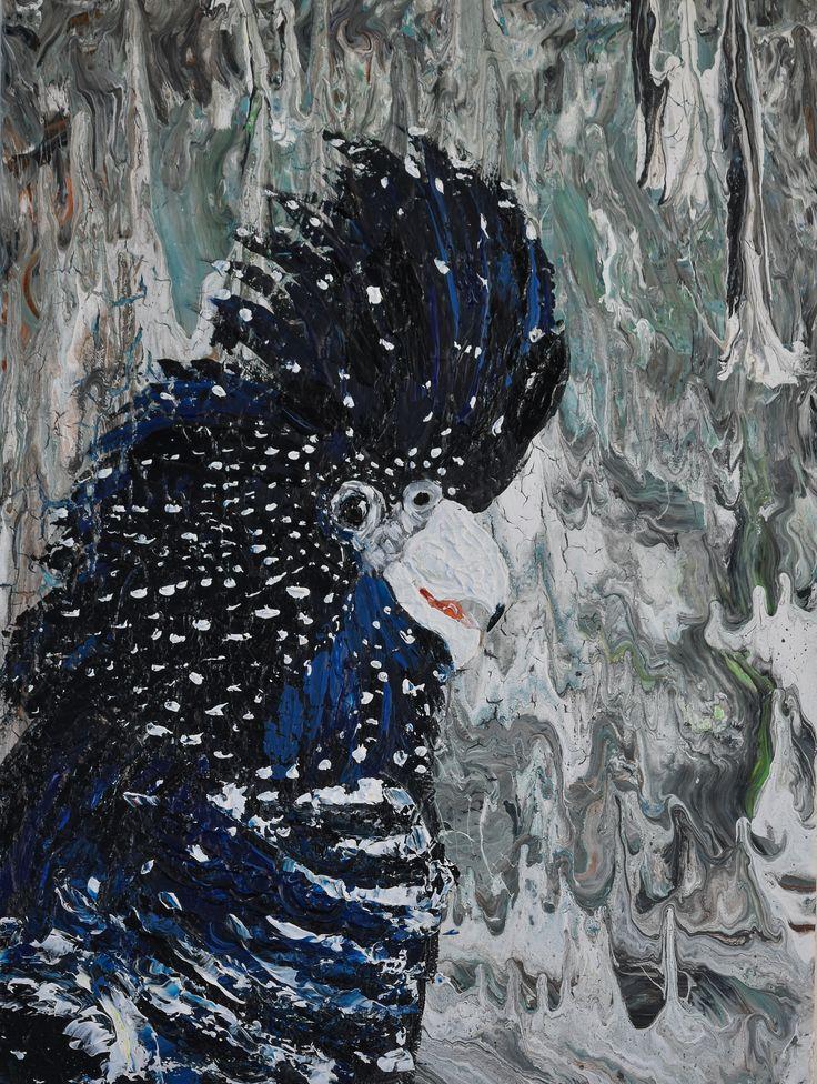 """""""Black Cockatoo  """" by Deborah Christensen. Paintings for Sale. Bluethumb - Online Art Gallery"""