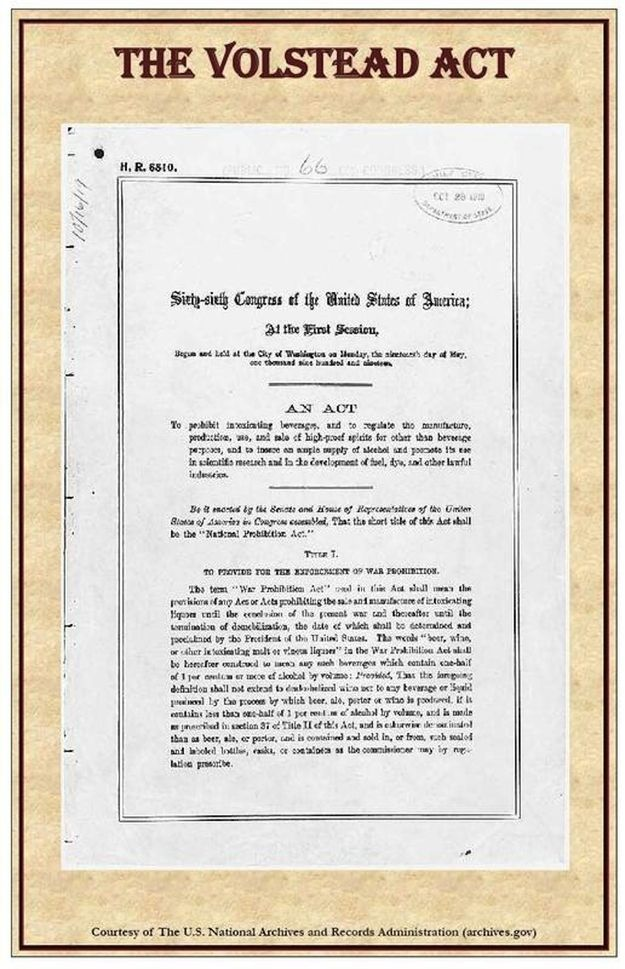 an introduction to the history of volstead act of 1919 History-social science content standards examine the passage of the eighteenth amendment to the constitution and the volstead act discuss the history of the nomination process for presidential candidates and the increasing importance of primaries in general elections.