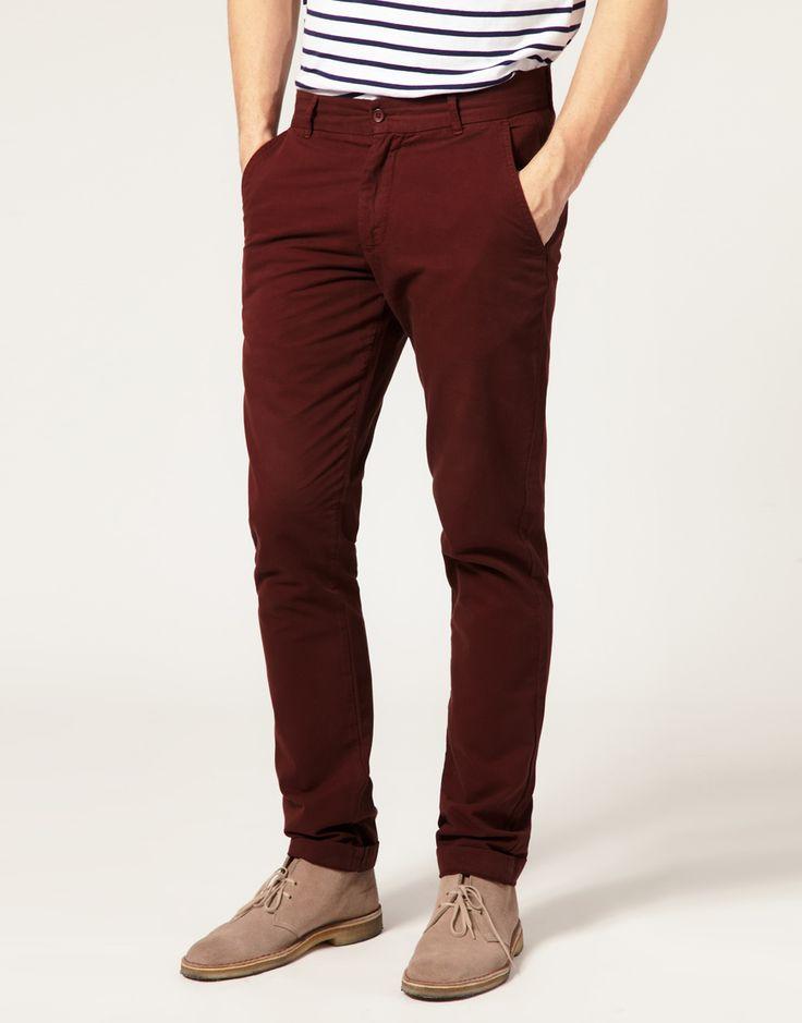 Asos burgundy trousers