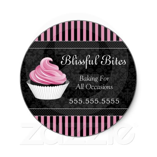 Elegant cupcake bakery box seals