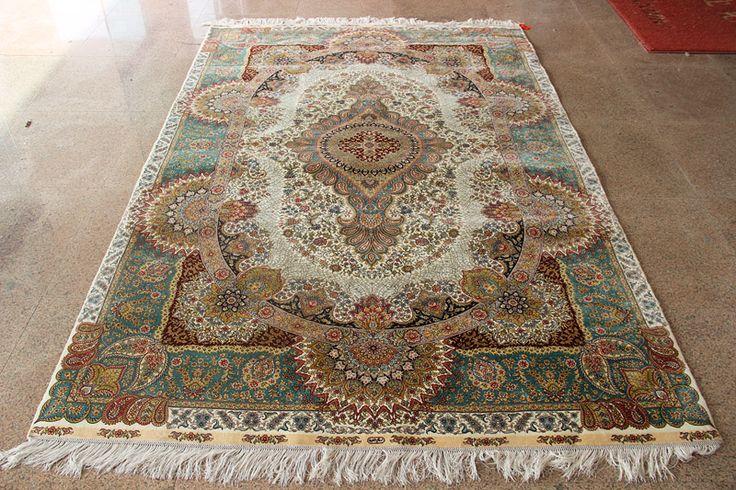 No.236913 230 lines, kpsi 367, made of silk Size 6x9 foot, hand knottd,  www.ylrug.com info@ylrug.com WhatsApp & Viber: +86-13849180658