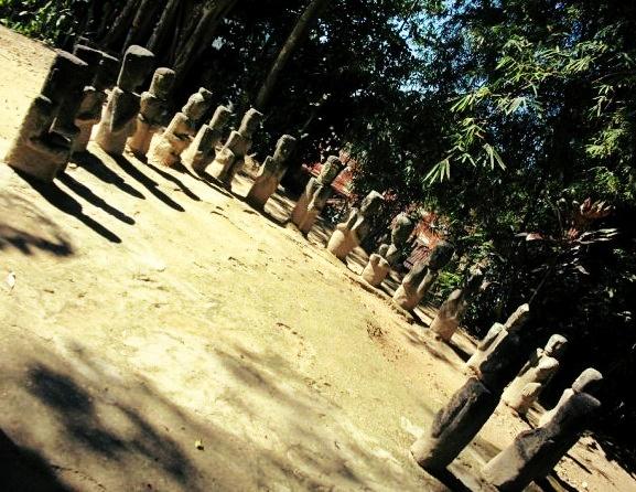 Sculptures at the tomb of Batak King Sidabutar ~ Samosir Island, Toba, North Sumatra