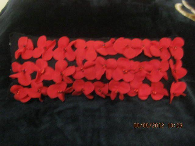almohada flores paño lency/fieltro