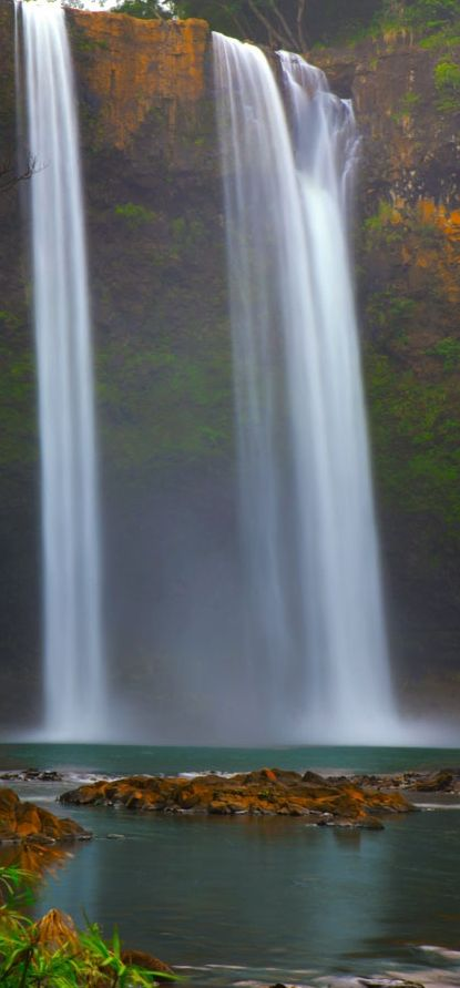 Wailua Falls  Kauai, Hawaii.I want to go see this place one day.Please check out my website thanks. www.photopix.co.nz
