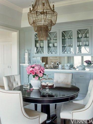 beautifulDecor, Kitchens, Dining Rooms, Home Interiors, Jennifer Lopez, Interiors Design, Diningroom, Round Tables, Art Deco