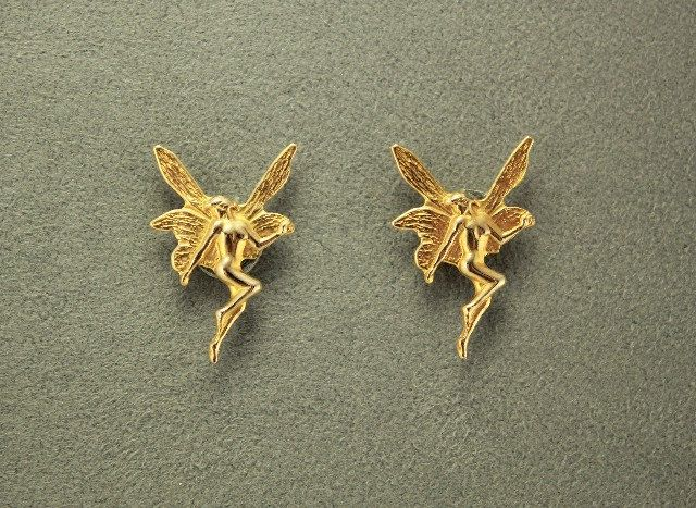 Gold Fairy Magnetic Earrings by LauraWilsonGallery on Etsy