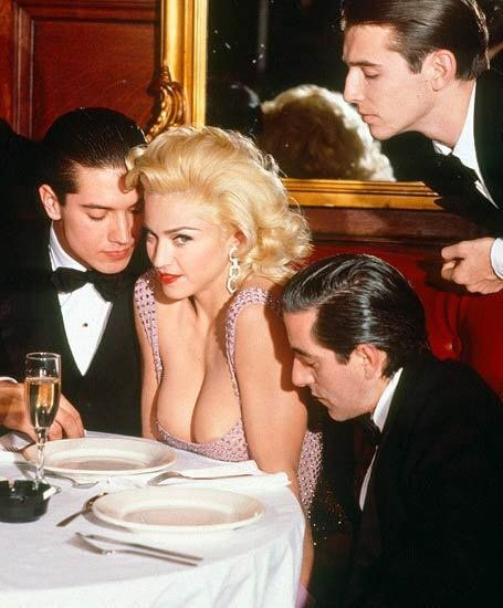 Madonna embodying Jayne Mansfield.