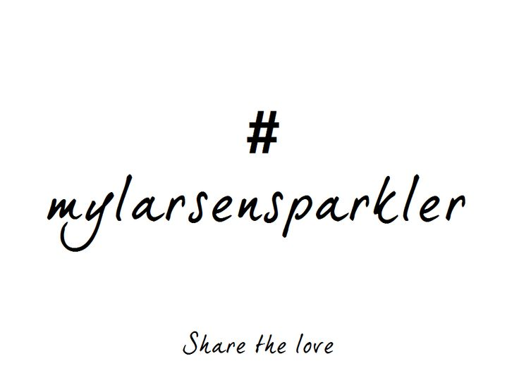 We love our customers' ring selfies so much that we've created a hashtag for the occasion! Share your love for your ring (or any other piece of our jewellery), using: #mylarsensparkler x
