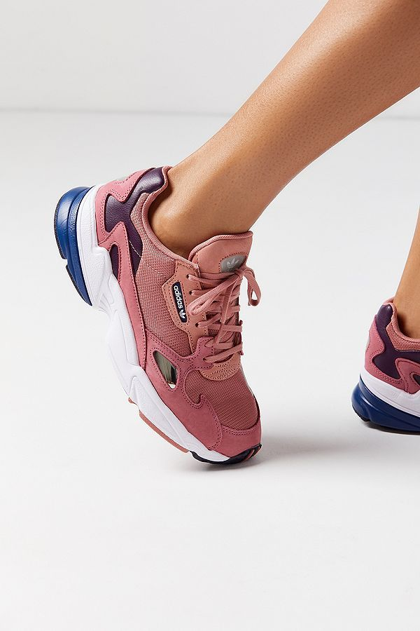 finest selection 152e8 93198 Slide View 1 adidas Originals Falcon Raw Pink Trainers