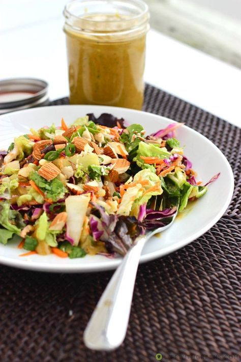 Asian Salad Dressing recipe - I just made this and OMG it is freaking delicious. Like, an old tennis shoe would be appealing with this stuff on it. YUM!