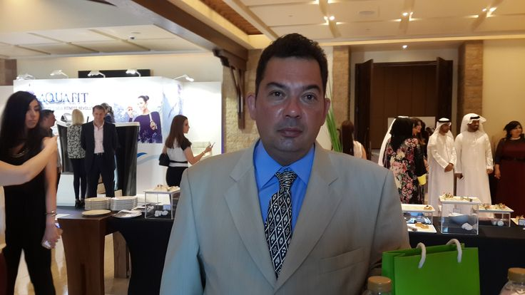 Georgios Karamvalis Marketing mgr.consulting  Hfe hair for ever clinic attend at the regional conference and exhibition for plastic surgery and womens health in Dubai .