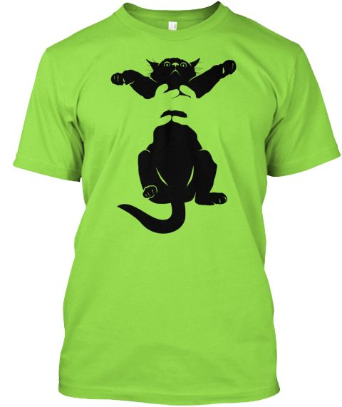 Selfie With My Cat Meow Crazy Cat Lover Lime T-Shirt Front