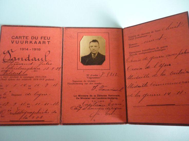 CARTE DU FEU militaire 1914-18 (Belgique)   eBay