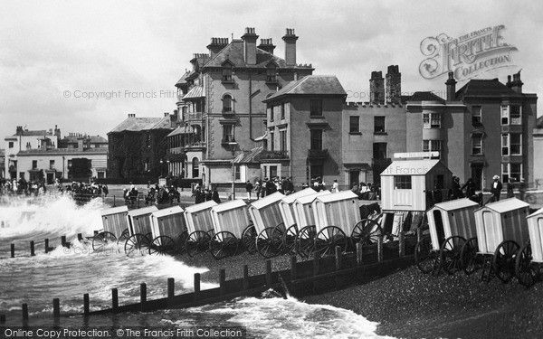 Bognor Regis, Bathing Machines From The Pier 1903, from Francis Frith