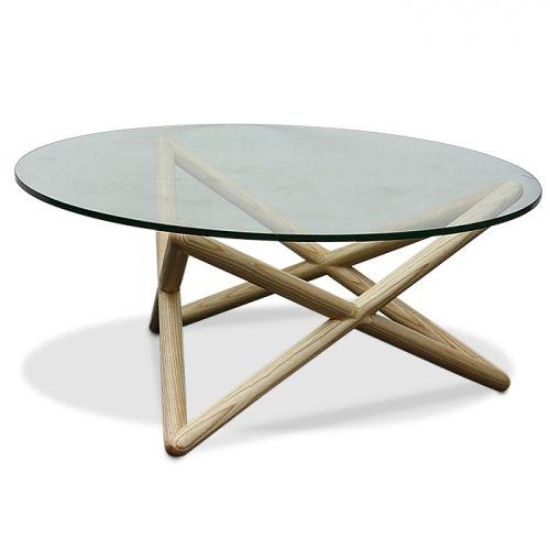 Sean Dix Triple X Glass Table in Light Ash Replica from Glicks Furniture $499