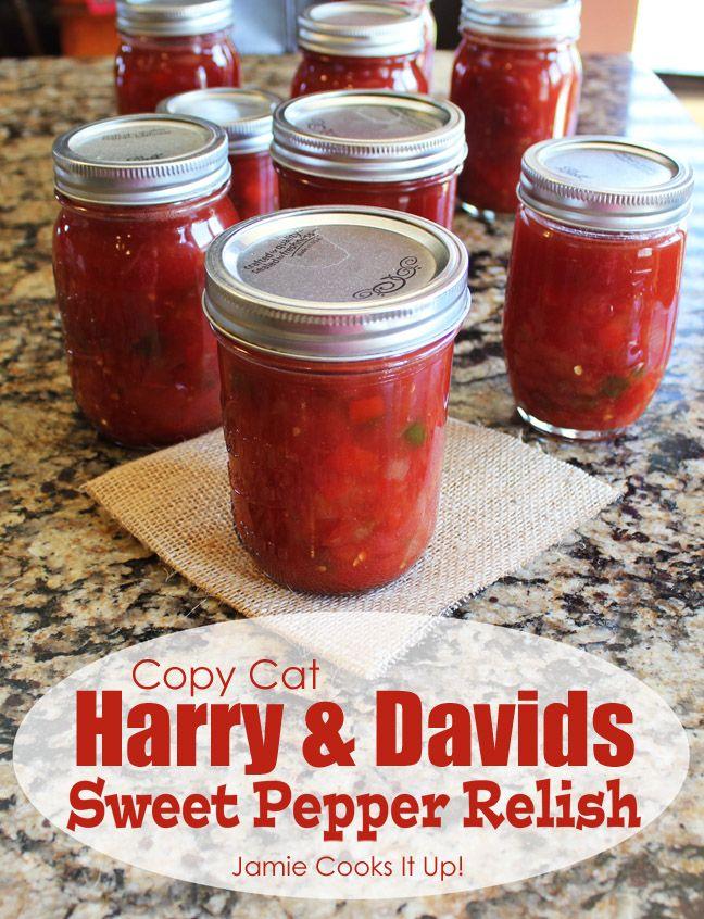 Copycat Harry and David's Sweet Pepper Relish