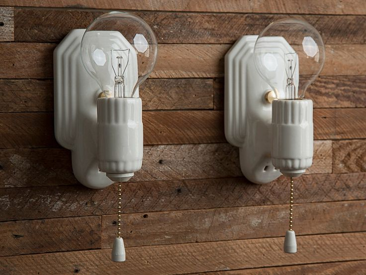 Vintage Rewired Porcelier Porcelain Ceramic Wall Lights Sconces Pair White Farmhouse Vanity Bathroom Brass Art Deco 1920s 1930s 1940s by TheModMercantile on Etsy https://www.etsy.com/listing/479751488/vintage-rewired-porcelier-porcelain