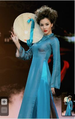 áo dài xanh dương