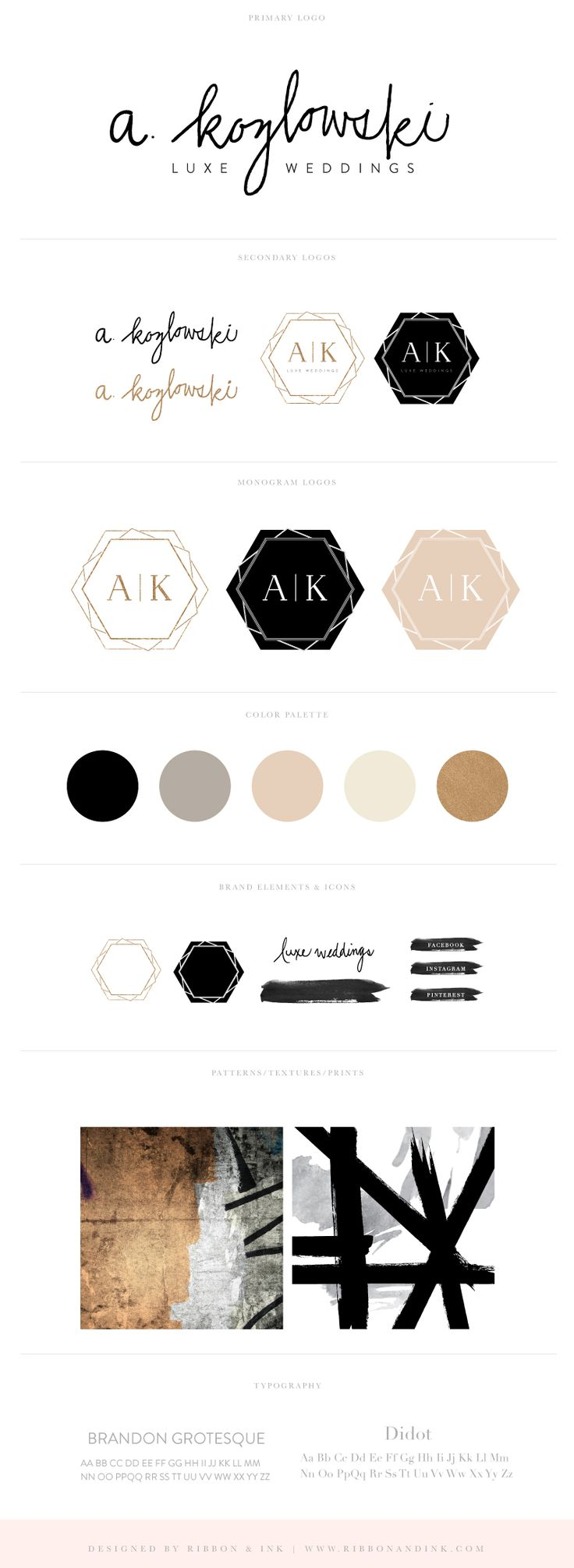 Branding and Web Design / brand design / wedding planner brand board / logo design / brand ideas / black and gold / color palette / branding for creatives / branding for photographers / brand design