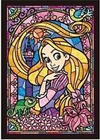 Counted Cross Stitch Pattern, Disney Princesses, Rapunzel, Stained Glass, Instant PDF Pattern Download