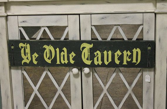 Check out this item in my Etsy shop https://www.etsy.com/listing/532026964/ye-olde-tavern-wooden-sign