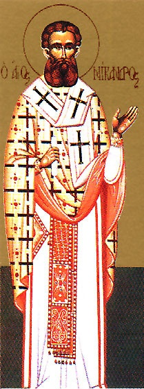 Hieromartyr Nicander. Icon of Saint Nicander. Hieromartyr Nikandros. A very special Saint to me now. Orthodox Christian Icon.