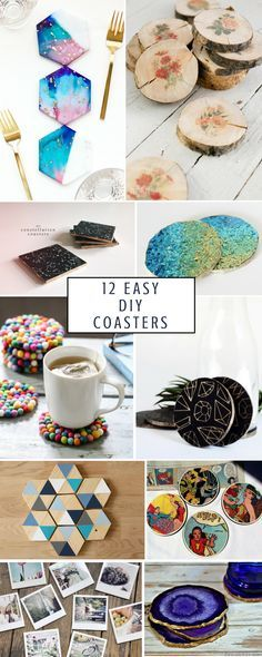 12 Easy Chic DIY Coasters That'll Leave Your Guests Wowed