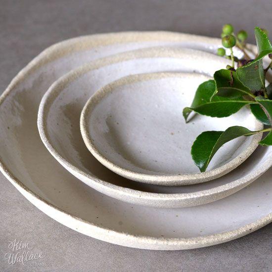 Handmade pebble bowl, made from stunning sand-coloured, slightly textured Australian stoneware clay by Australian ceramic artist Kim Wallace. Shop online.