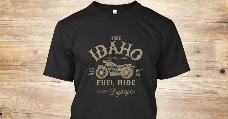 Idaho Chopper Club retro t-shirt. Custom illustrated logo t-shirt.