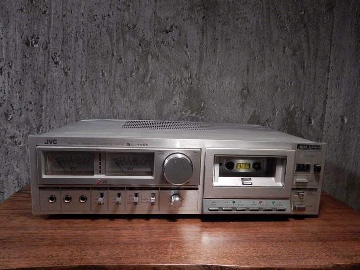 Originally a JVC cassette deck, now retrofitted with Raspberry Pi and IQaudIO amplifier + player software.