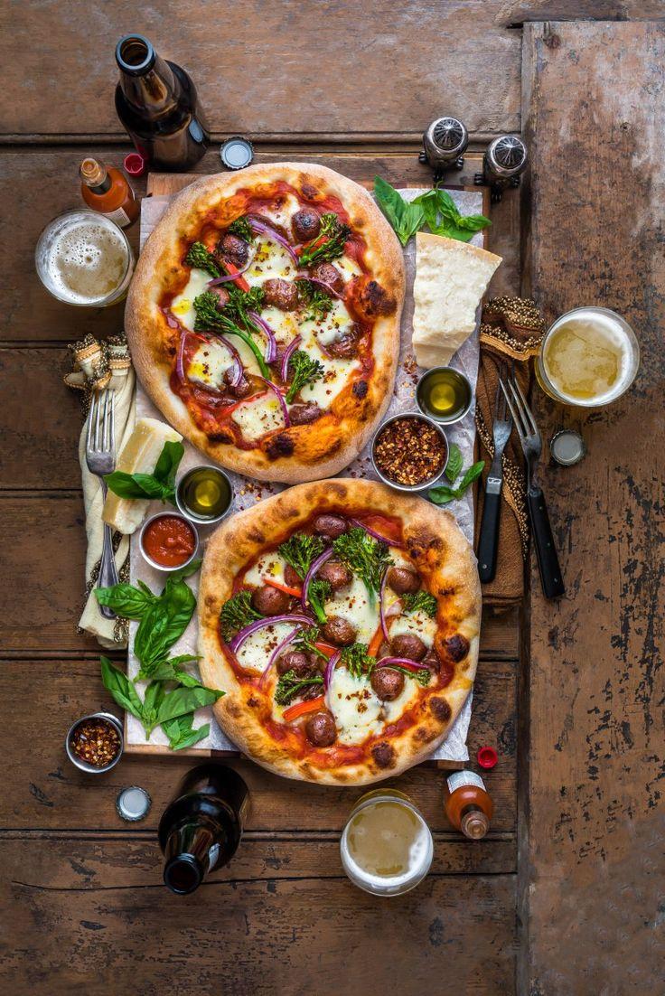 Merguez Sausage & Garlic Broccolini Pizza