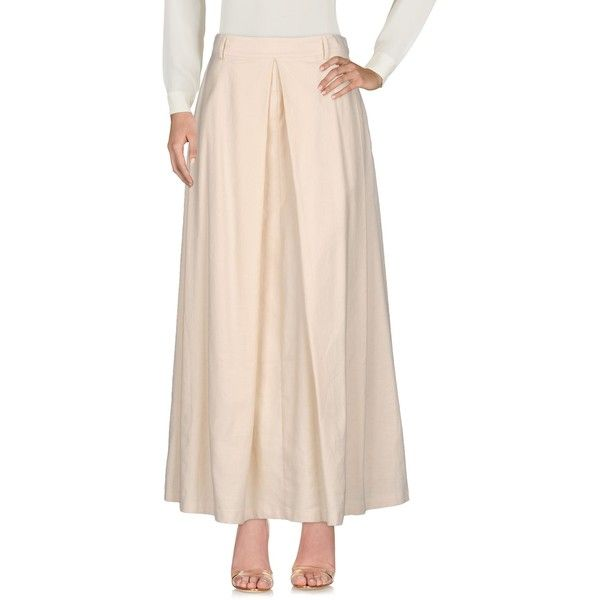 Liviana Conti Long Skirt ($115) ❤ liked on Polyvore featuring skirts, beige, beige pencil skirts, stretch pencil skirt, maxi pencil skirt, zip pencil skirt and long stretch pencil skirt