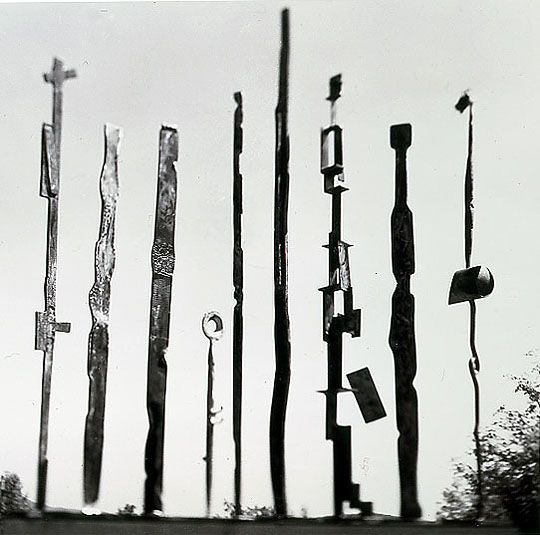 David Smith: Group of 9 sculpture, 1955 - Sculpture
