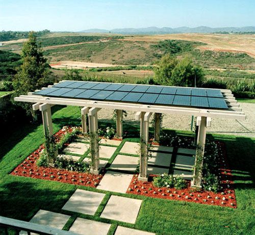 House facing the wrong direction? Solar Paneled Pergolas!