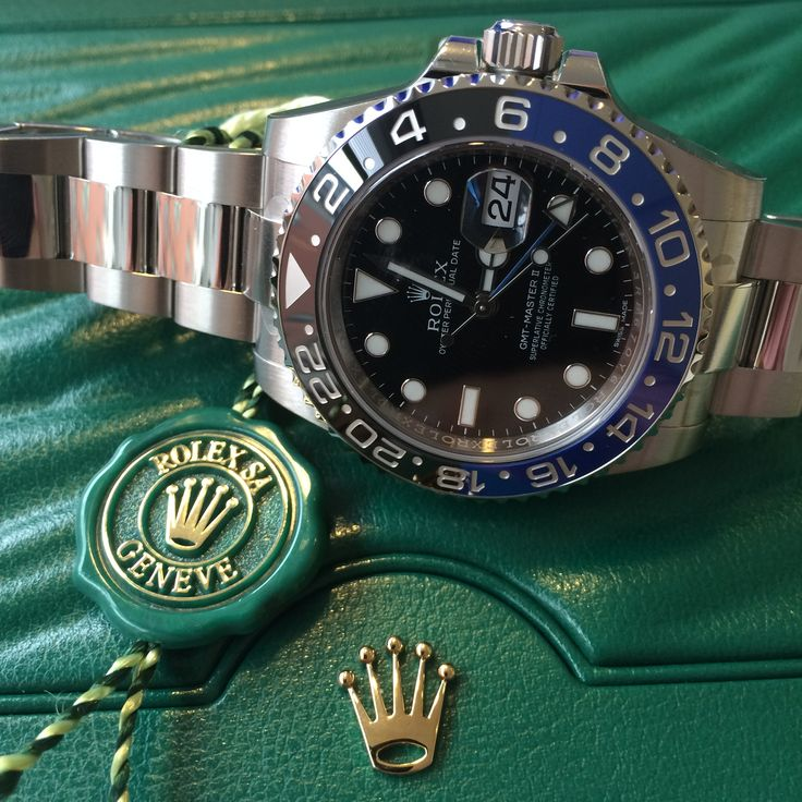 Black & Blue Rolex GMT-Master II in stock, looking for a new home!  #Batman
