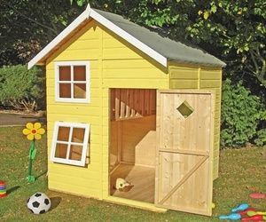 DIY Designs - Kids Pallet Playhouse Plans | Wooden Pallet Furniture